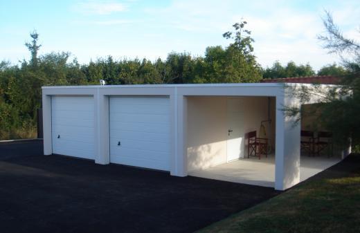 Nos garages en b ton abr industrie for Garage prefabrique beton en kit